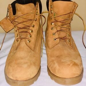 "Timberland Waterproof 6"" Wheat 18094 Boots  SZ 13M"